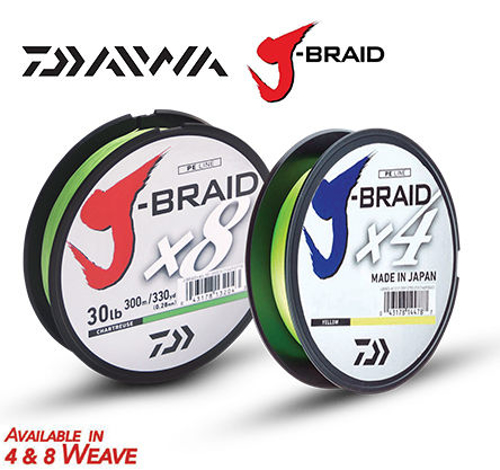 Picture of J-BRAID X8 0.28mm 30lb 300m Chartreuse
