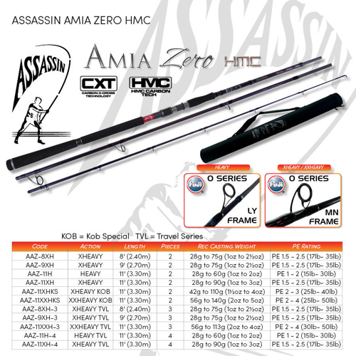 Picture of ASSASSIN Amia Zero Kob Special 11ft 2pc