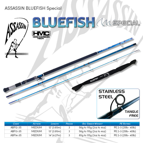 Picture of ASSASSIN Bluefish Special Spin 13ft 2-4oz 3pc