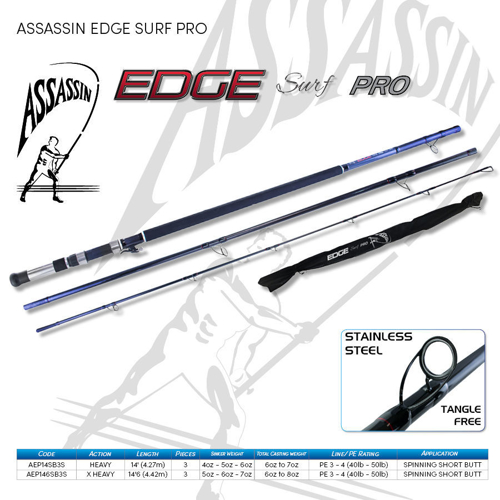 Picture of ASSASSIN Edge Surf Pro 14ft6 Spin SB 6-8oz 3pc
