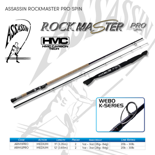 Picture of ASSASSIN Rockmaster Pro 12ft 1-3oz 2pc
