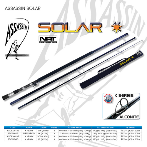 Picture of ASSASSIN Solar Surf 15ft 6-8oz XH 3pc