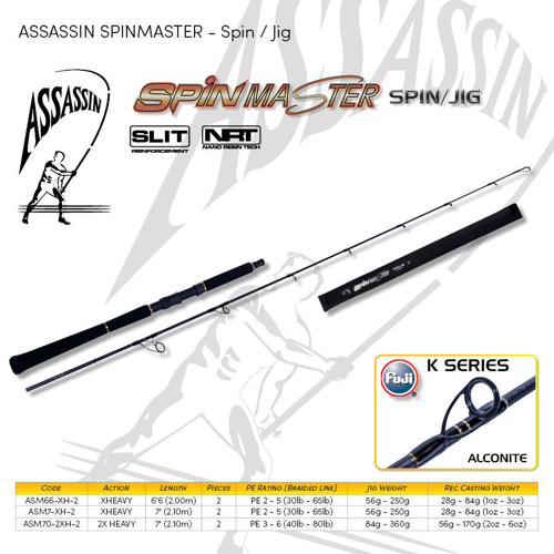 Picture of ASSASSIN Spinmaster Jig 7ft 30-65lb XH 2pc