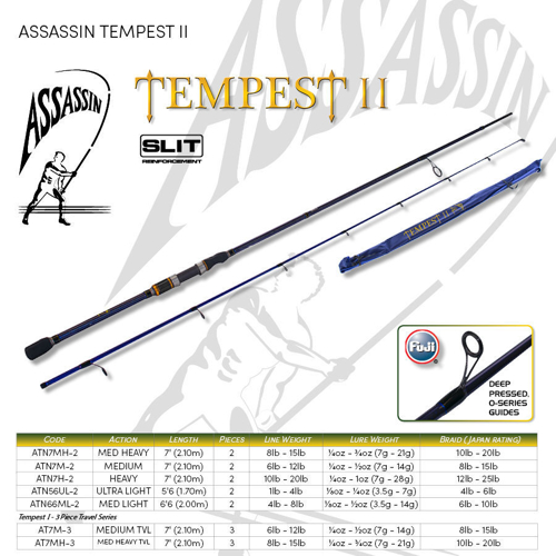 Picture of ASSASSIN Tempest II Spin 6ft6 2pc ML