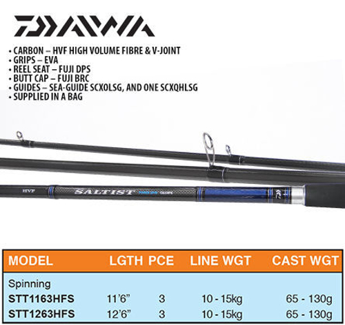 Picture of DAIWA Saltist Power Spin 12ft6 65-130g 3pc