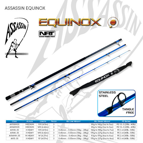 Picture of ASSASSIN Equinox Surf Spin 13ft6 3-5oz M