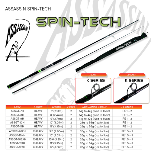 Picture of ASSASSIN Spin Tech 10ft 1-2oz