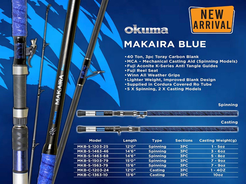 Picture of OKUMA Makaira Blue 14ft 3-5oz