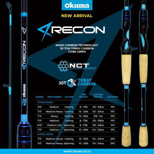 Picture of OKUMA Recon Bass 7ft Spin 1pc M
