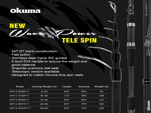 """Picture of OKUMA Wave Power Telespin 7'0"""" M"""