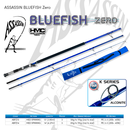 Picture of ASSASSIN Bluefish Zero Spin 13ft 3pc