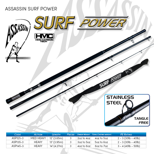 Picture of ASSASSIN Surf Power 12ft 3-4oz 3pc