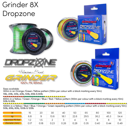 Picture of GRINDER DropZone 8X 0.35mm 65lb 300m