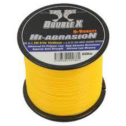 Picture of DOUBLE X High Abrasion 0.52mm 43lb 600m Yellow