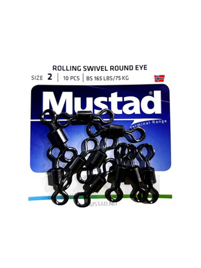 Picture of Mustad Rolling Swivel Round Eye 10