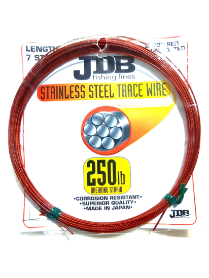 Picture of JDB Nylon Coated Stainless Steel Trace Wire 60lb