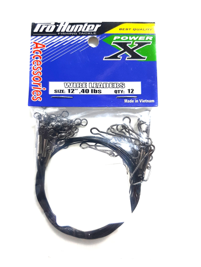 """Picture of Pro-Hunter Power X Wire Leader 6"""" 40lbs"""