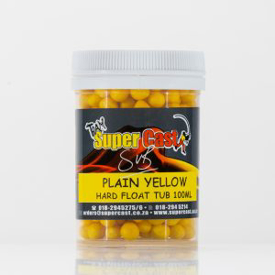 Picture of Super Cast 100ml Hard Float Tub Yellow Plain
