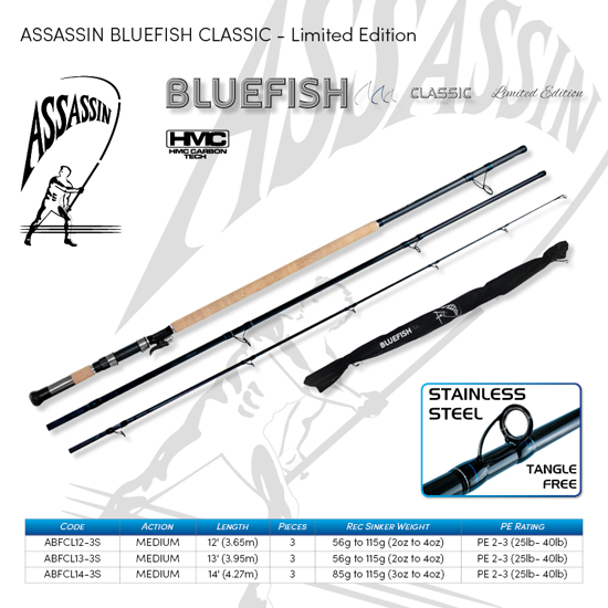 Picture of ASSASSIN Bluefish Classic Spin 12ft 2-4oz 3pc